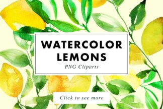 Crella Subscription - lemons watercolor 1 -
