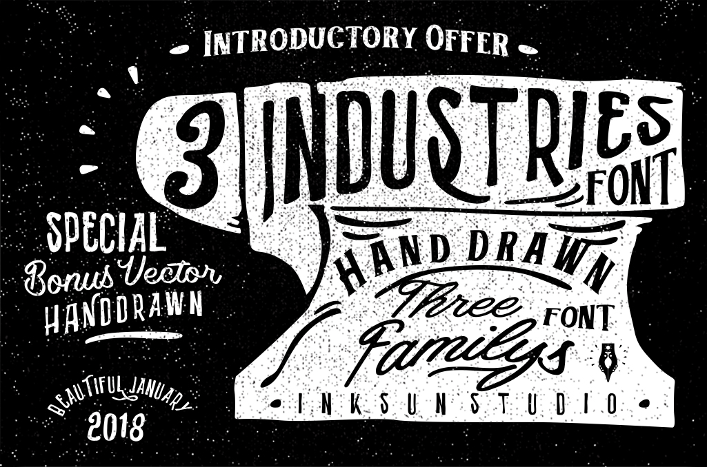 3 Font Industries - POSTER 1 -