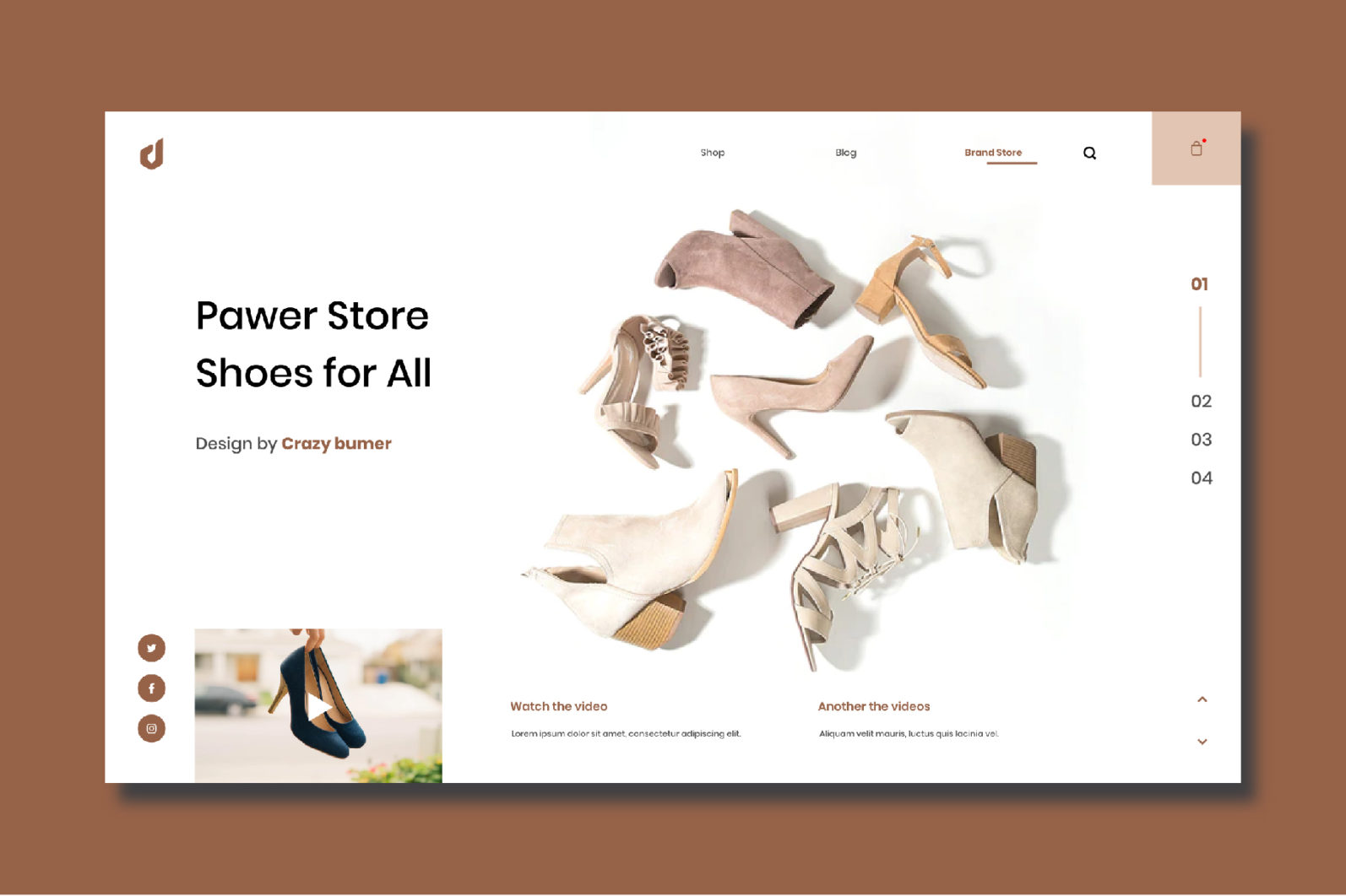 Pawer Shoe Store - Website Template - Shoe Preview -