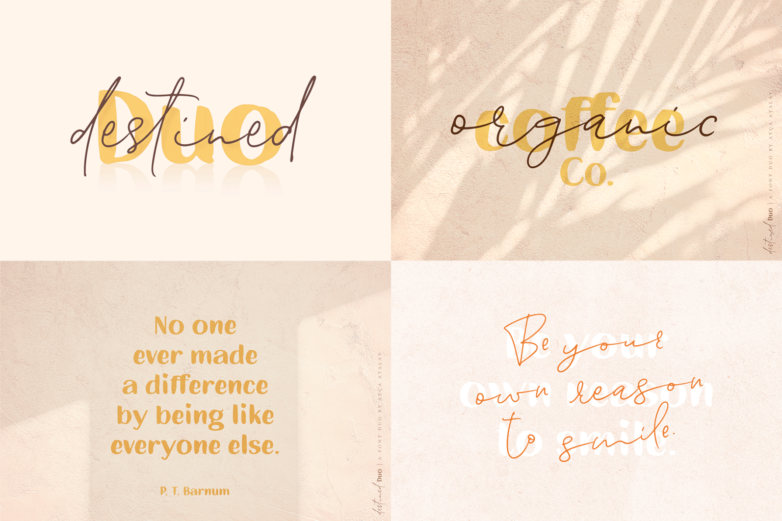 The Hand Lettered Font Bundle - Bundlemedia DestinedDuo -
