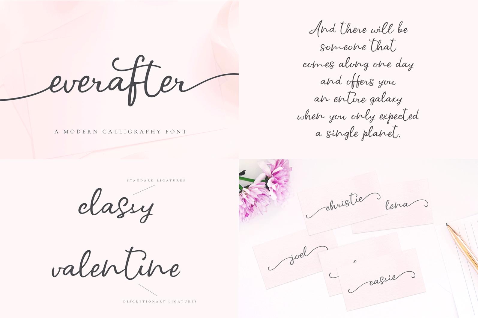 The Hand Lettered Font Bundle - Bundlemedia Everafter -