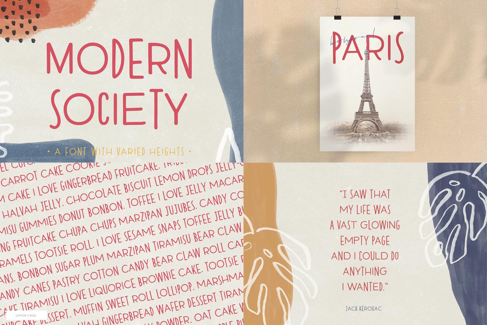 The Hand Lettered Font Bundle - Bundlemedia Modern Society -