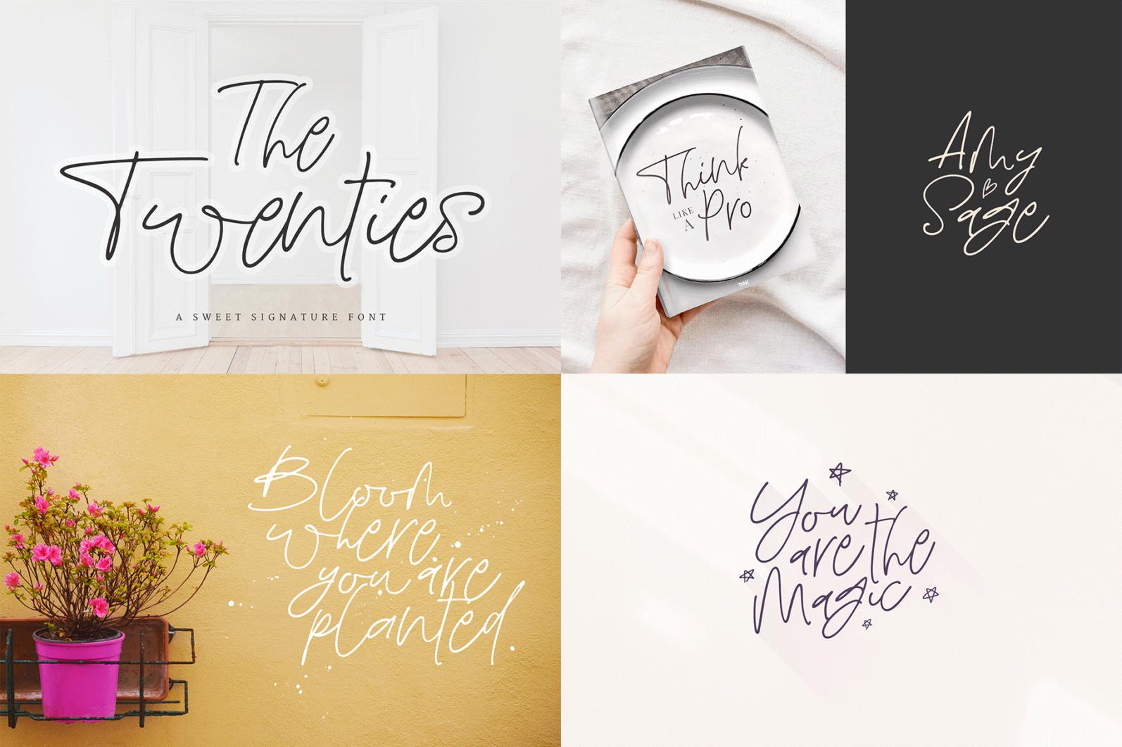 The Hand Lettered Font Bundle - Bundlemedia TheTwenties -