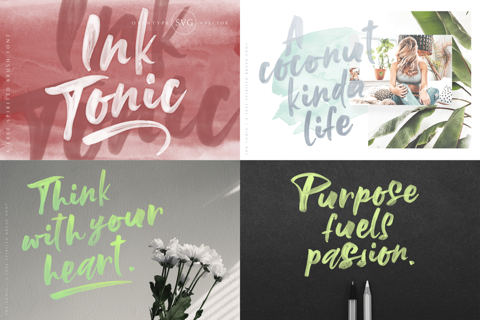 The Hand Lettered Font Bundle - Bundlemedia InkTonic -