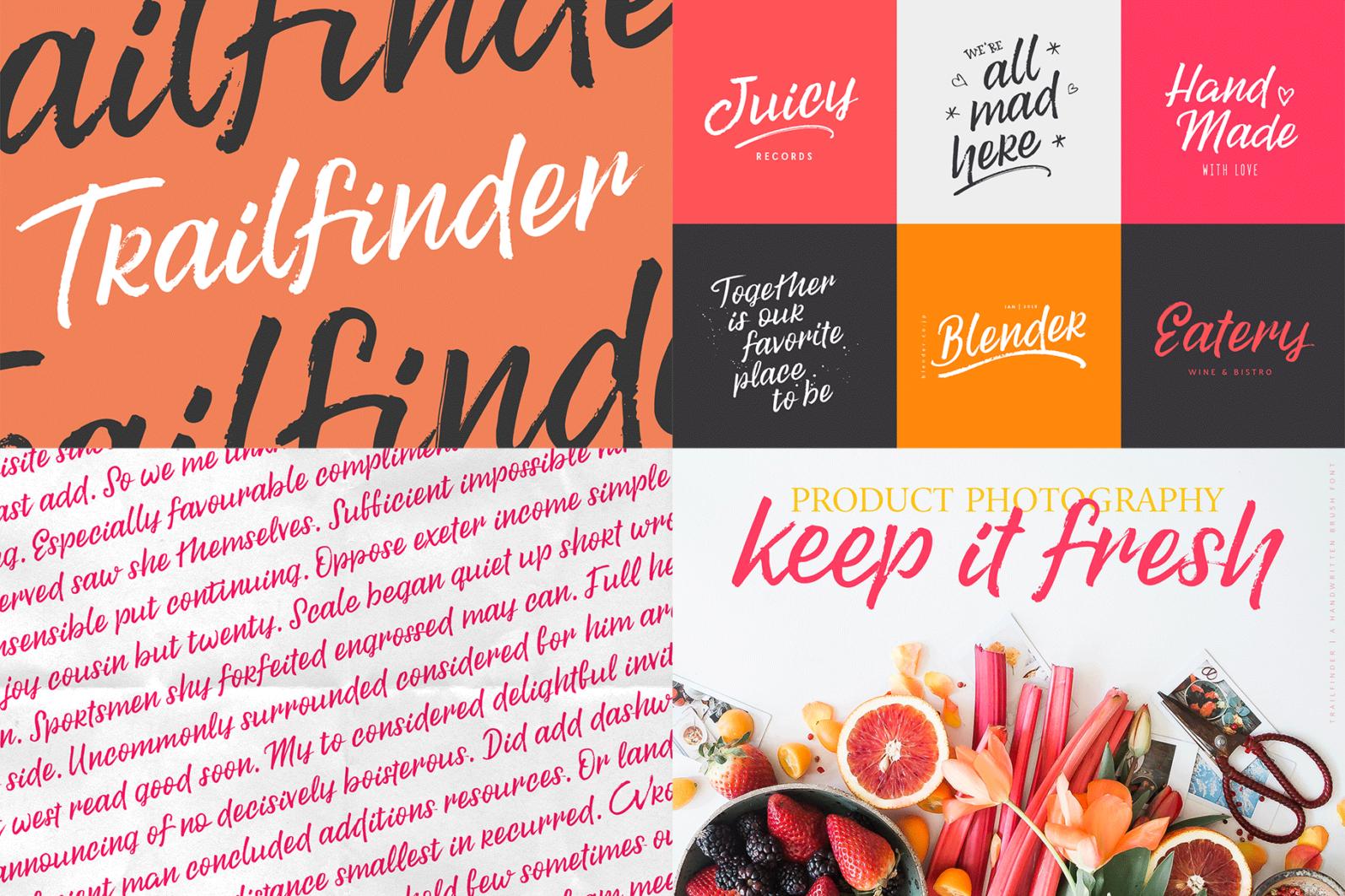 The Hand Lettered Font Bundle - Bundlemedia Trailfinder -