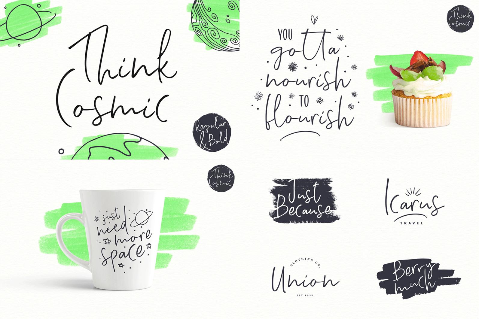 The Hand Lettered Font Bundle - Bundlemedia ThinkCosmic 1 -
