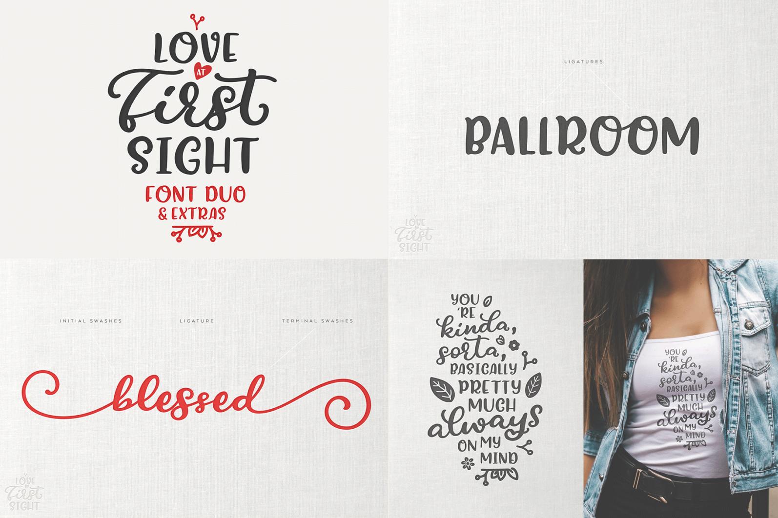 The Hand Lettered Font Bundle - Bundlemedia LoveAtFirstSight -