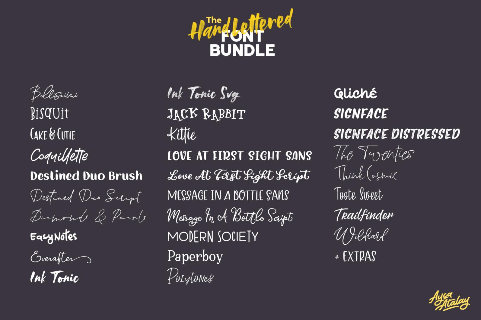 The Hand Lettered Font Bundle - Bundlemedia 002 -