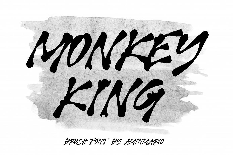 Brush Font Bundle - 45 Fonts - COVER MONKEY KING -