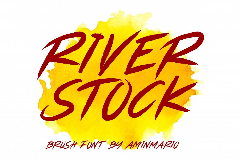 Brush Font Bundle - 45 Fonts - COVER RIVERSTOCK -