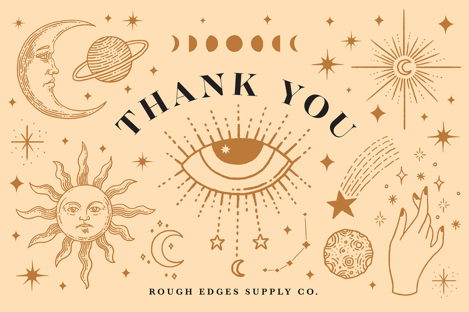 Celestial Illustration Set - Sun Moon Stars Space - Moonchild Preview Thank You page 02 -