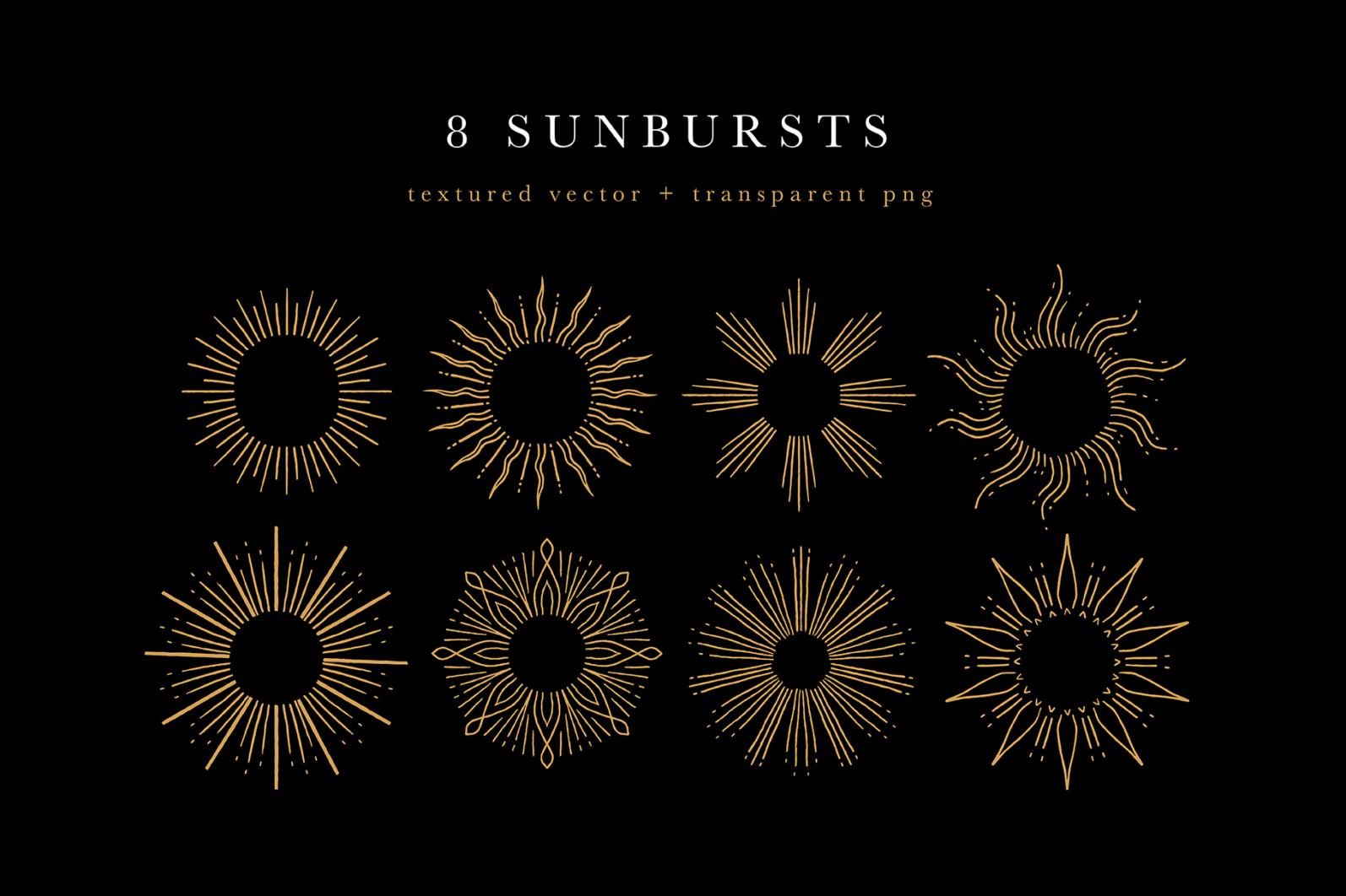 Celestial Illustration Set - Sun Moon Stars Space - Moonchild Preview 04 -