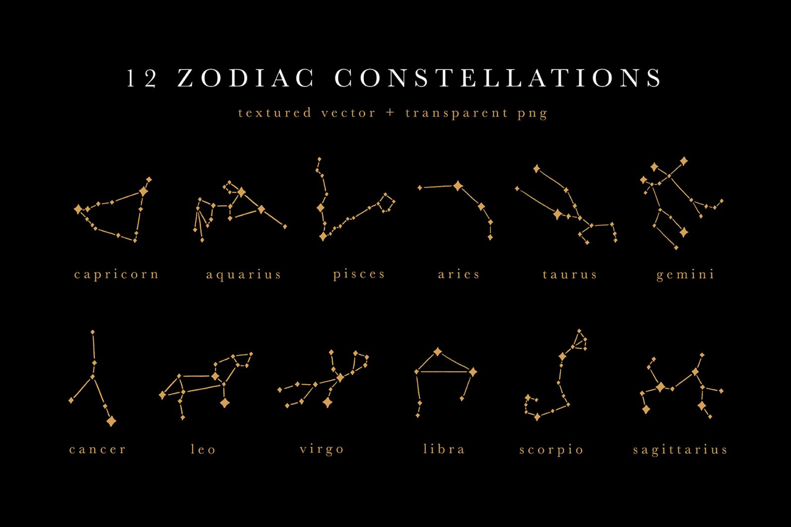 Celestial Illustration Set - Sun Moon Stars Space - Moonchild Preview 05 -