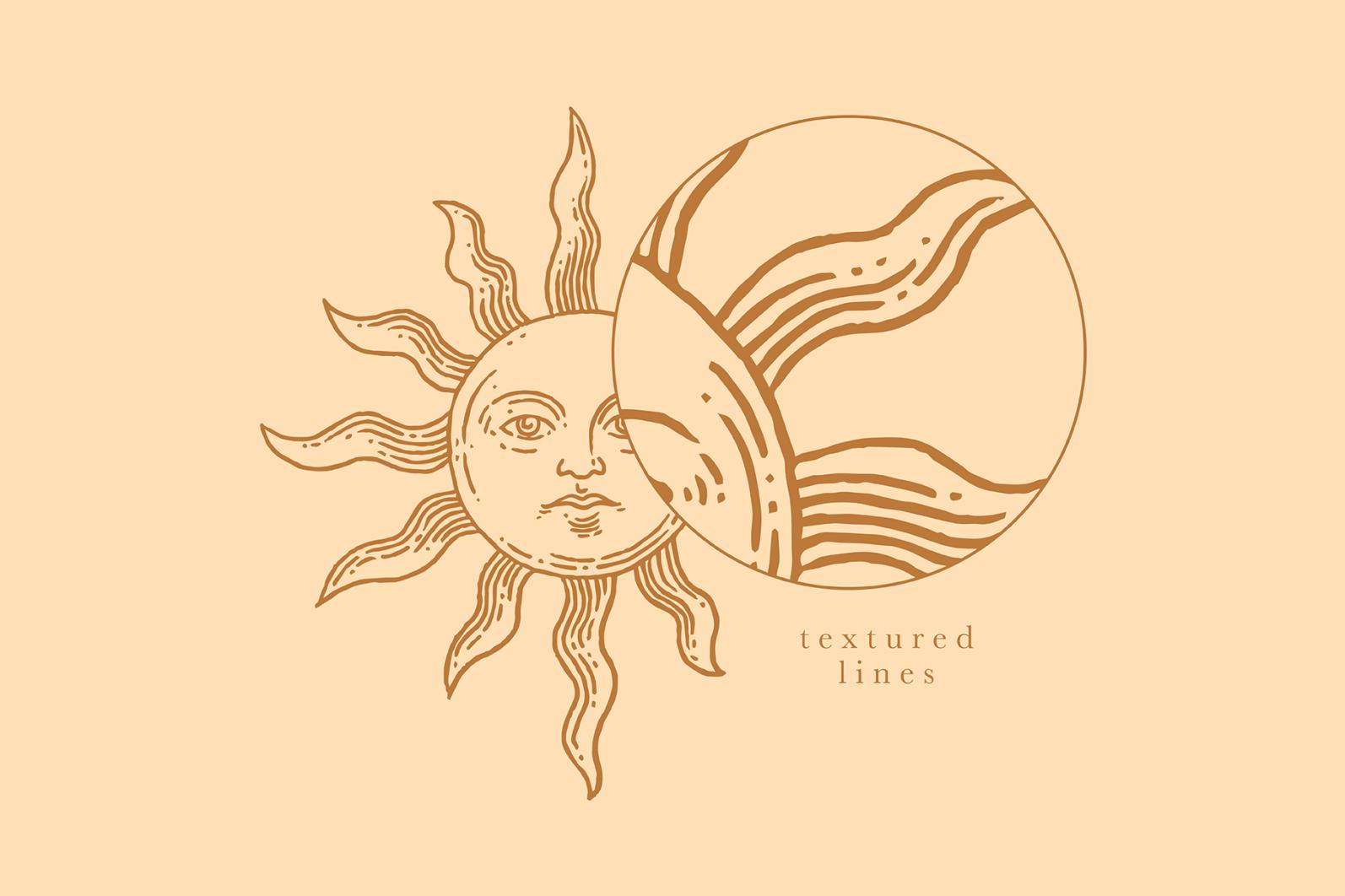 Celestial Illustration Set - Sun Moon Stars Space - Moonchild Preview 13 -