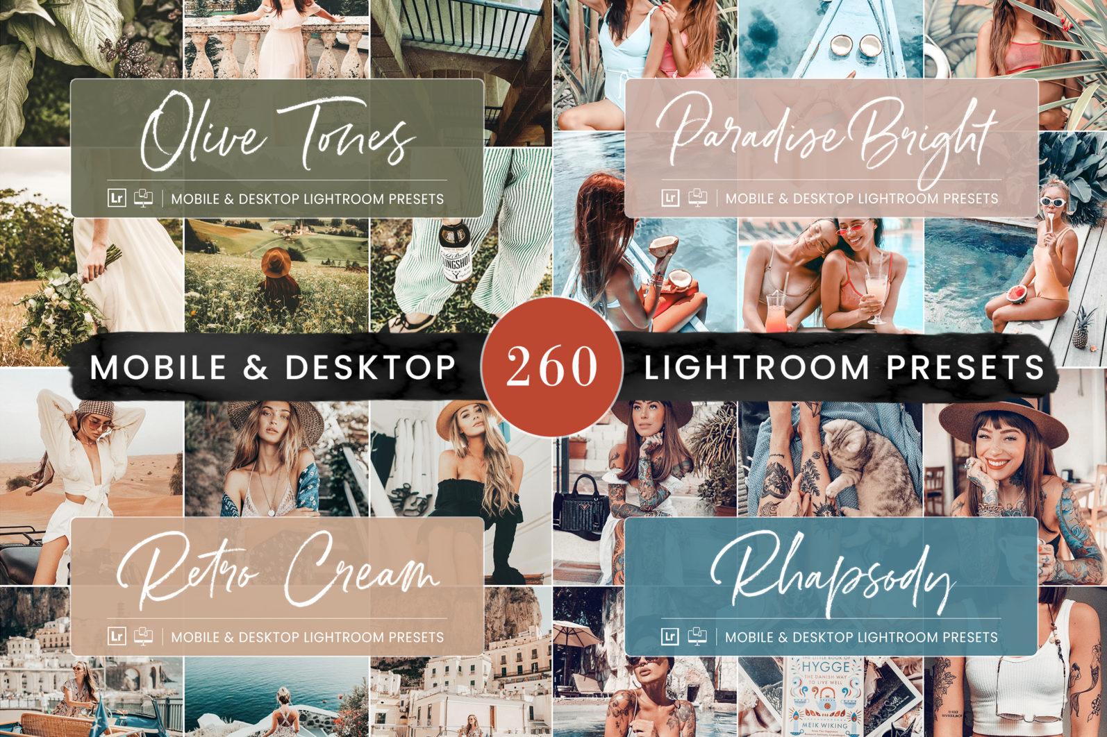 260 Lightroom Presets BUNDLE - Mobile & Desktop Presets - Preset Bundle 0 -