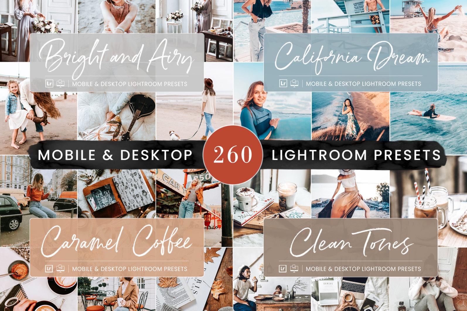 260 Lightroom Presets BUNDLE - Mobile & Desktop Presets - Preset Bundle 3 -