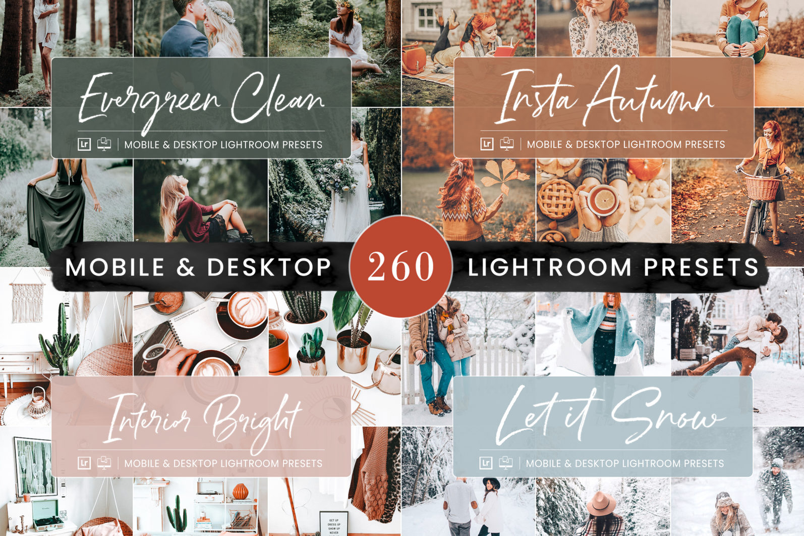 260 Lightroom Presets BUNDLE - Mobile & Desktop Presets - Preset Bundle 5 -