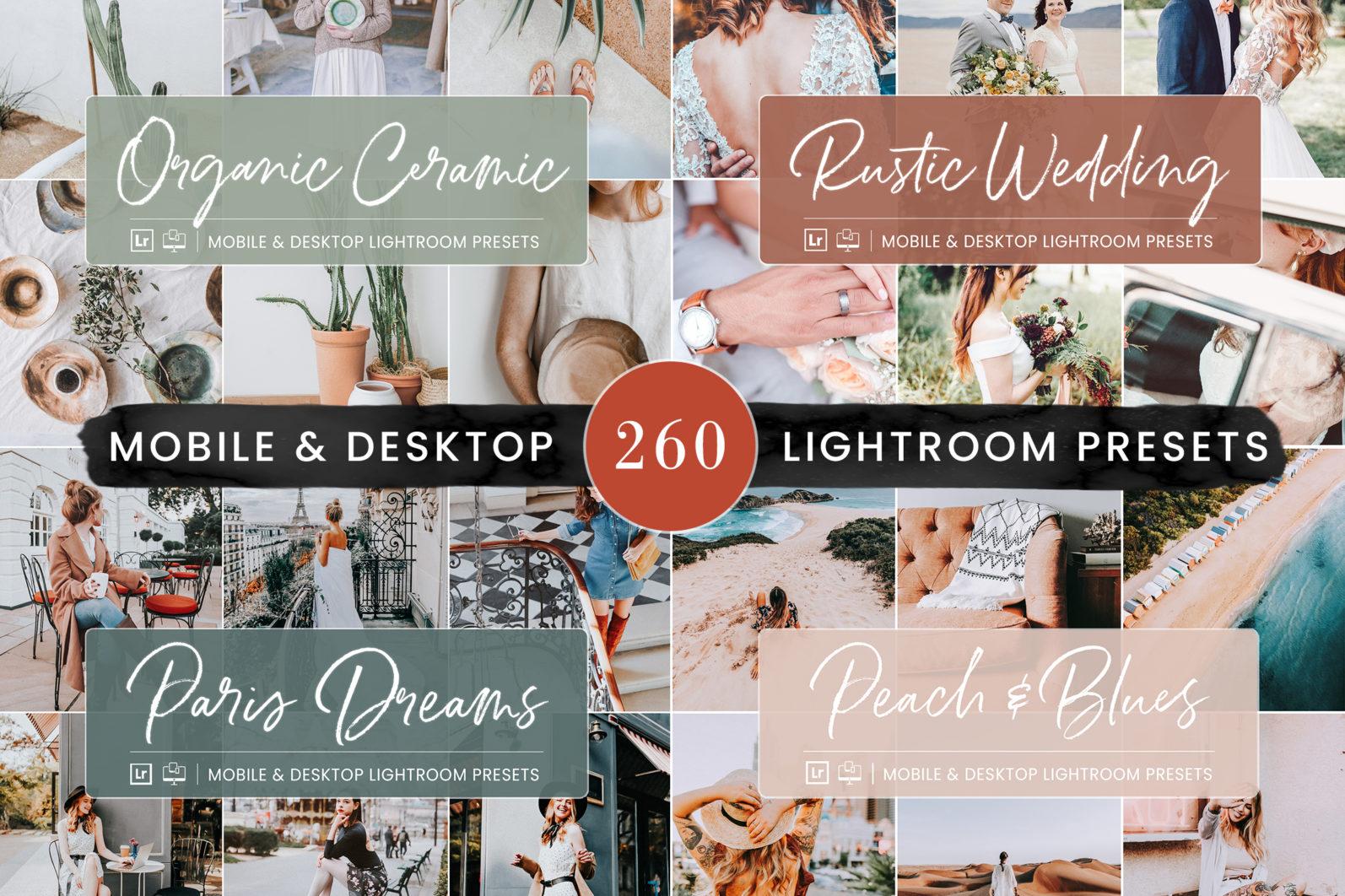 260 Lightroom Presets BUNDLE - Mobile & Desktop Presets - Preset Bundle 7 -