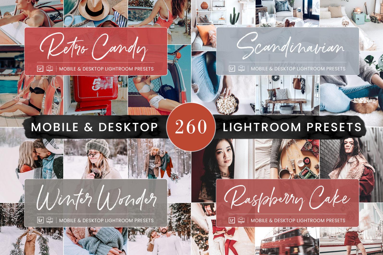260 Lightroom Presets BUNDLE - Mobile & Desktop Presets - Preset Bundle 8 -