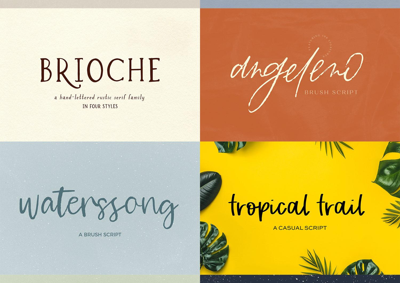 The Handlettered Font Bundle - etsy font bundle stack 5 scaled -