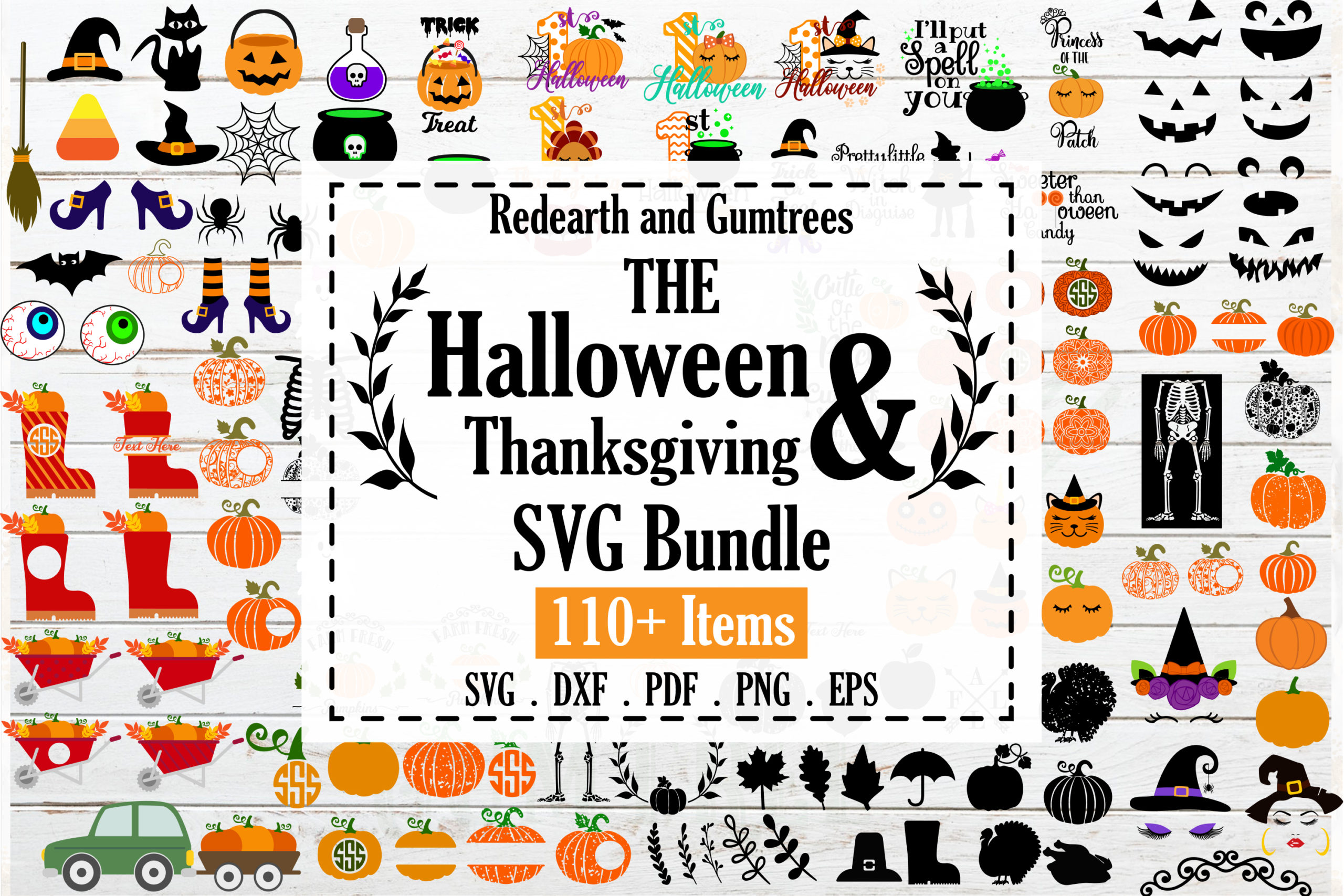 The Huge Halloween And Thanksgiving Bundle Fall Bundle Svg Png Eps Dxf Pdf Crella