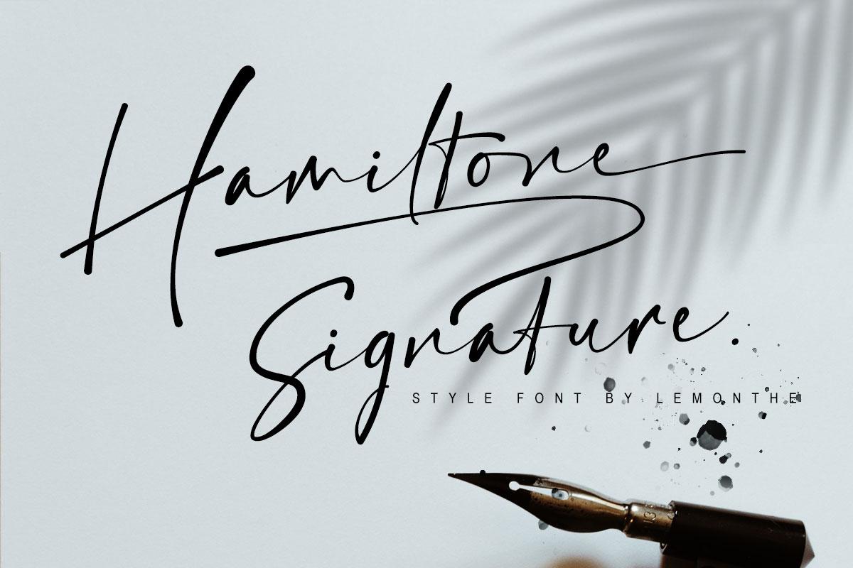 Hamiltone Signature Font - 1 212 -