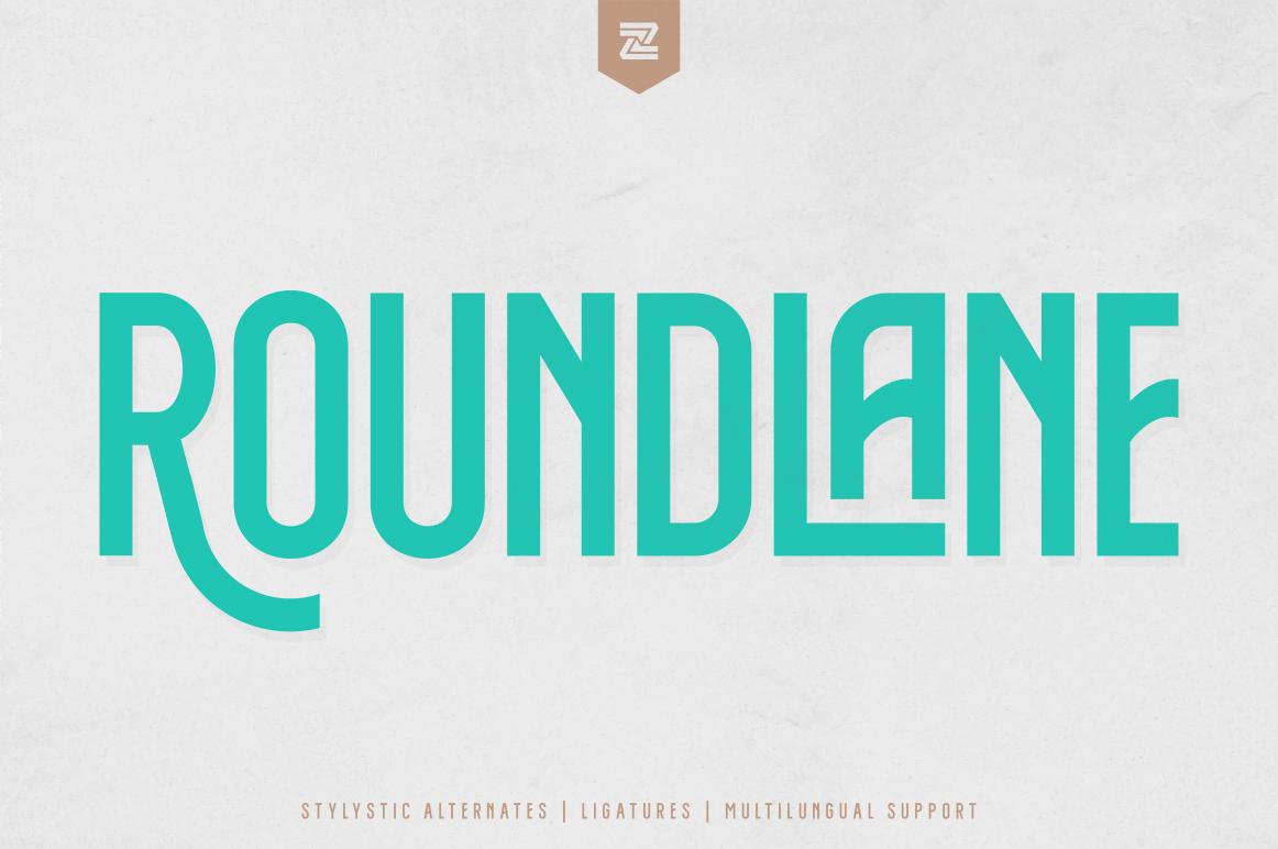 ROUNDLANE MULTIPURPOSE FONT - ROUNDLANE 1 -