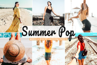 Crella Subscription - Summer Pop Mobile Desktop Lightroom Presets Cover -