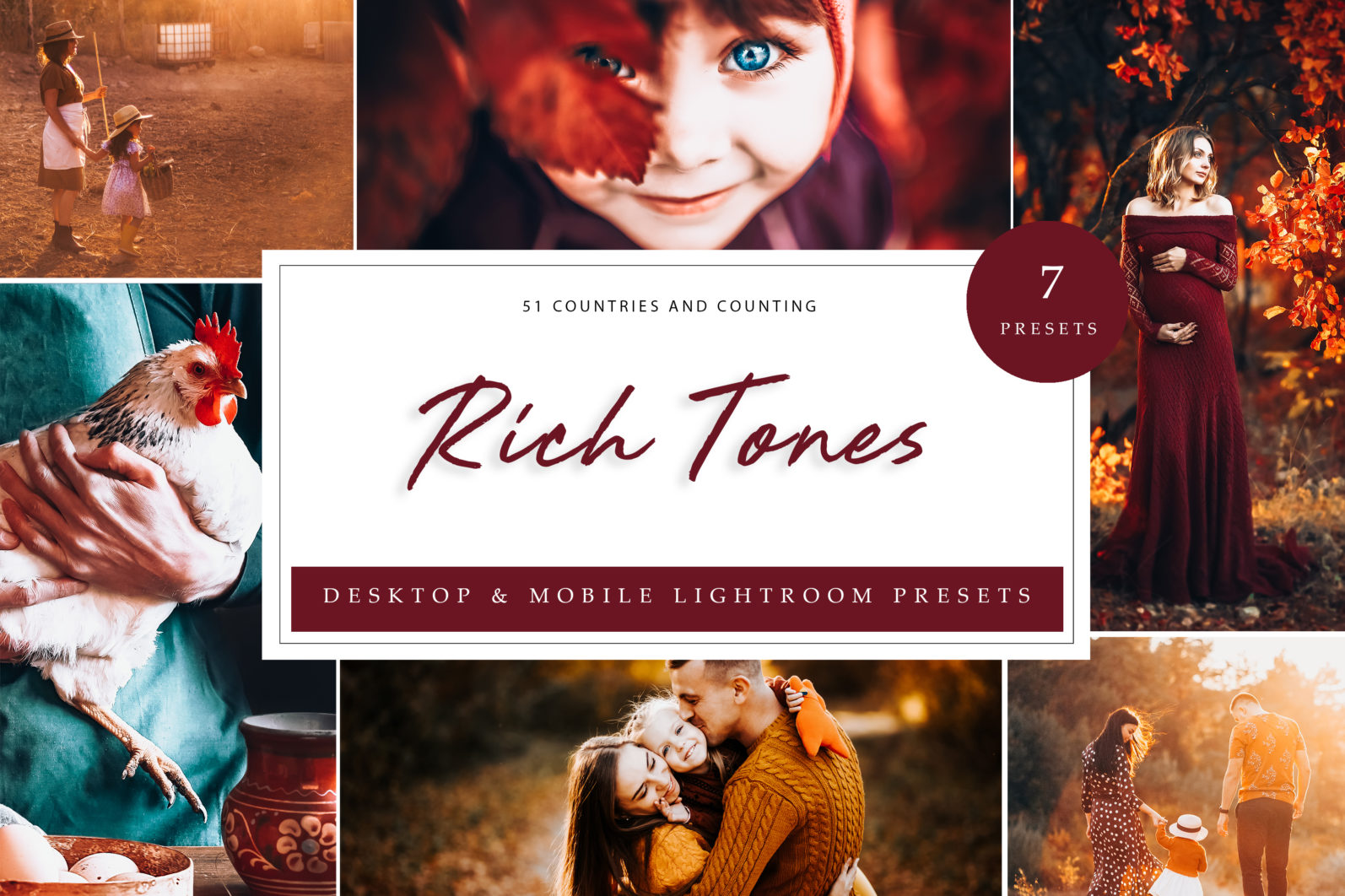 7 x Rich Tones Lightroom Presets [Desktop + Mobile] - Rich Tones LR scaled -
