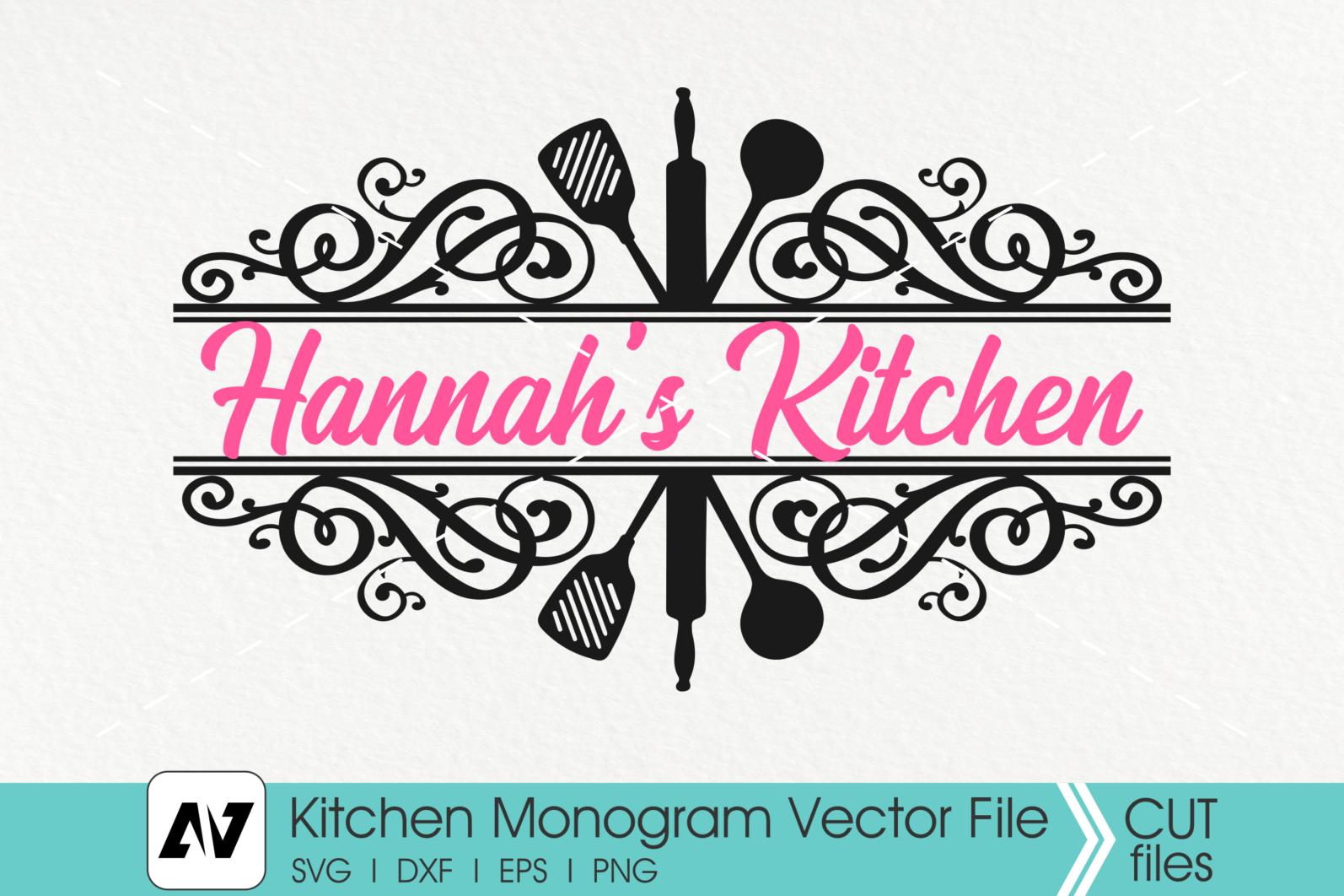Kitchen Svg, Kitchen Monogram Svg, Kitchen Utensils Svg - ETSY POST -