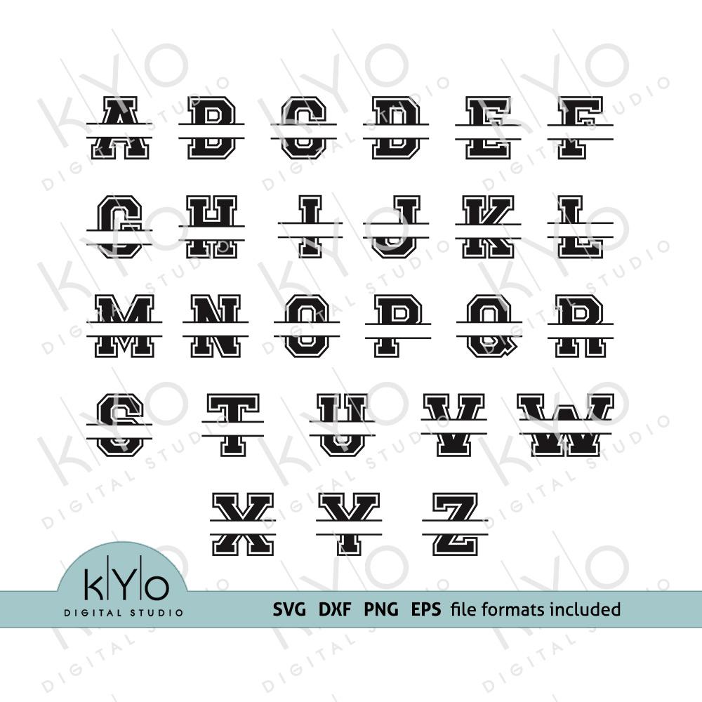 14+ Split Letter Alphabet Svg Dxf Eps Png SVG