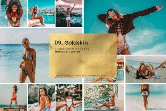 White Lightroom Presets - 09. Goldskin 01 -