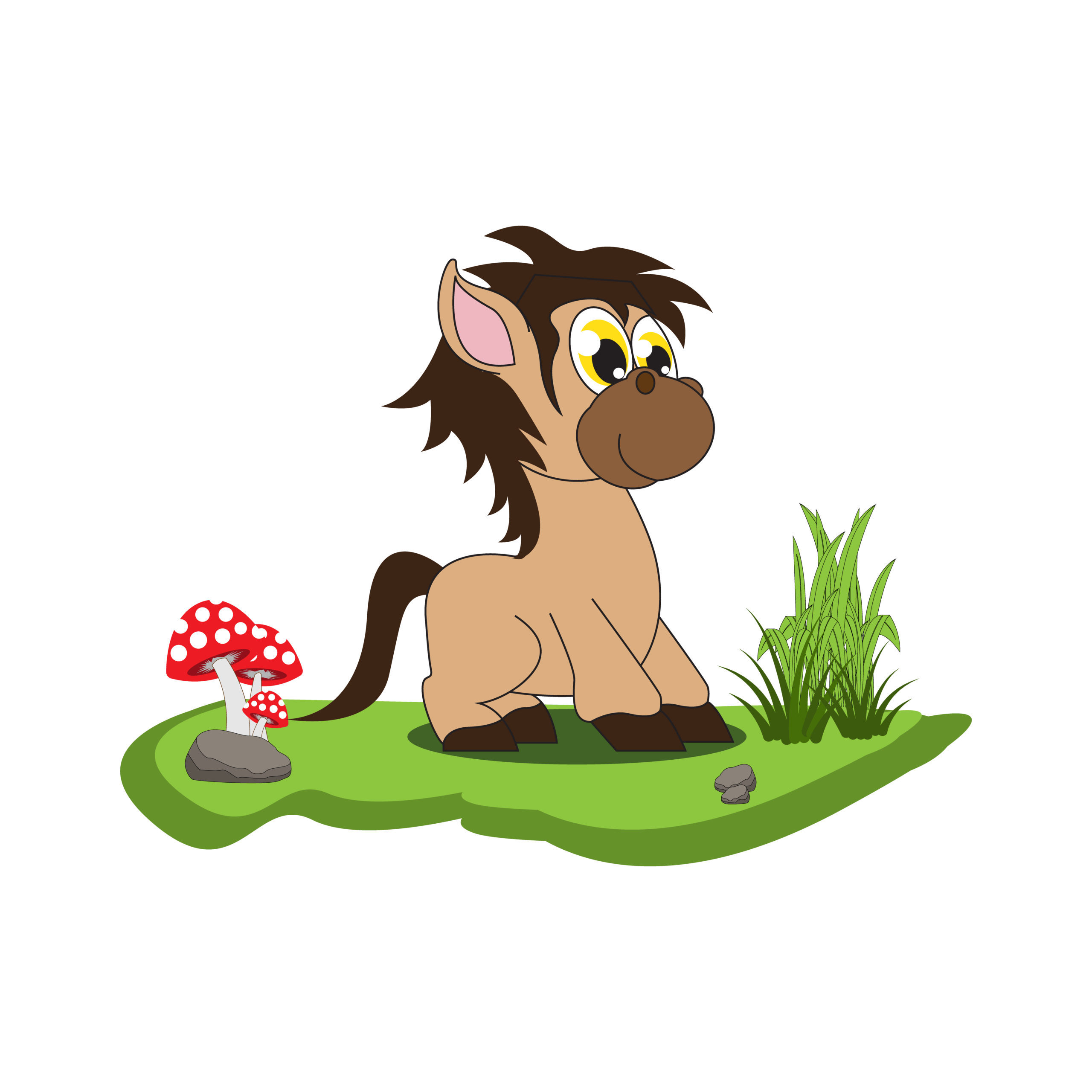 Adorable Horse Animal Cartoon Illustration Vector Design Crella