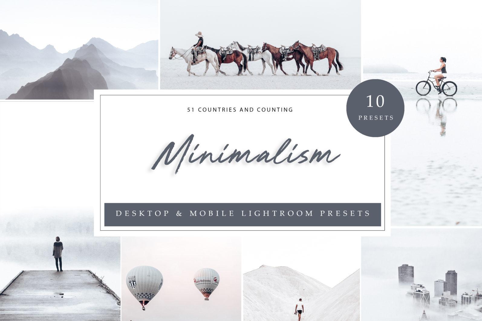 BUNDLE /// 06_Lightroom Collection // 72 x Desktop and Mobile Presets - Minimalism LR 1 scaled -