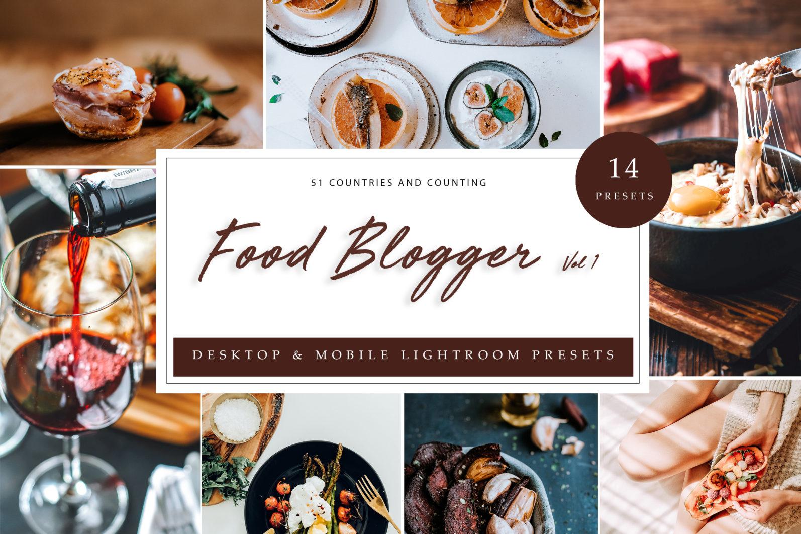 BUNDLE /// 06_Lightroom Collection // 72 x Desktop and Mobile Presets - Food Blogger Vol.1 LR scaled -