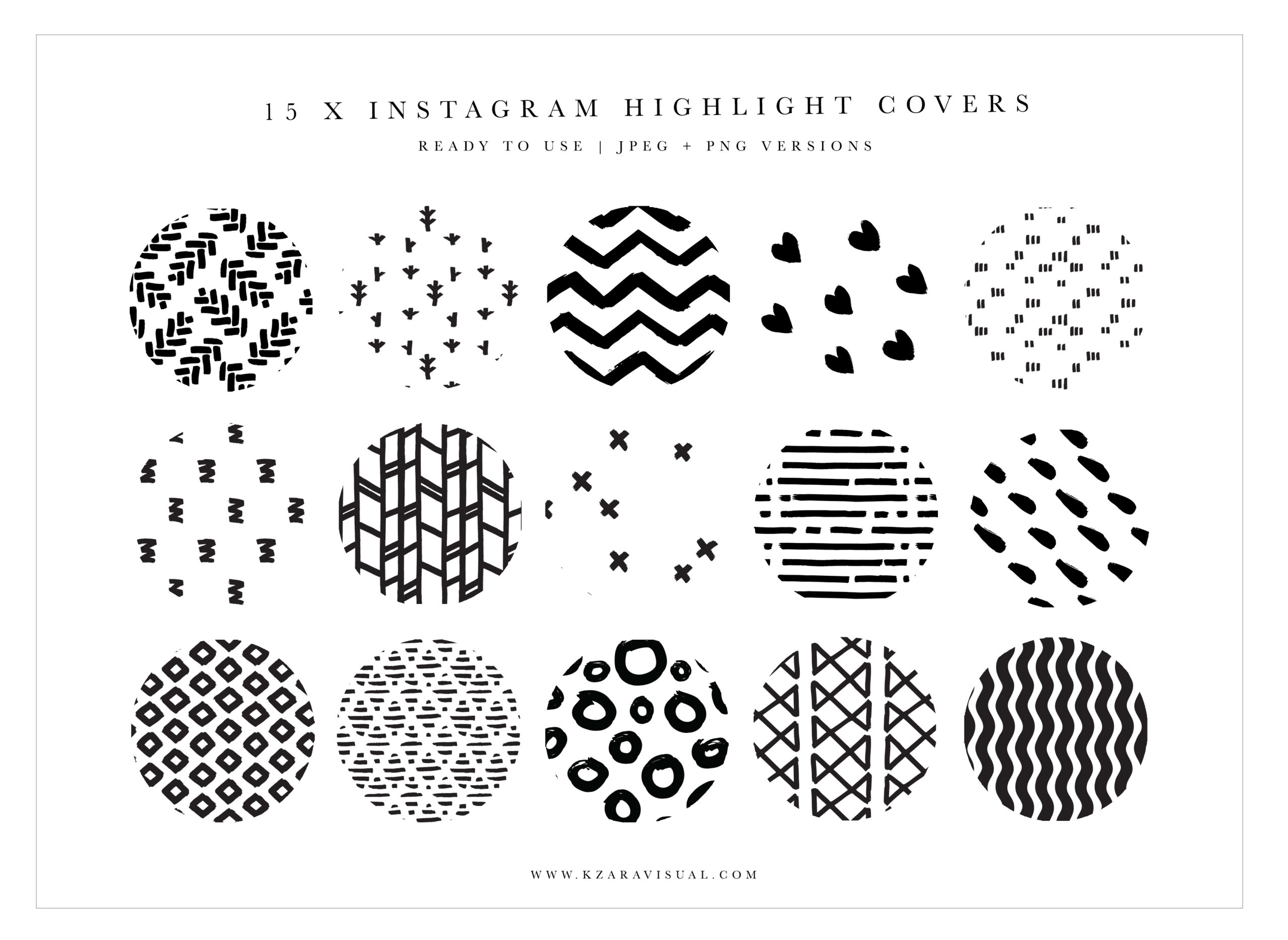 Instagram Highlight Covers 37 Abstract Instagram Icons Black And White Highlights Crella