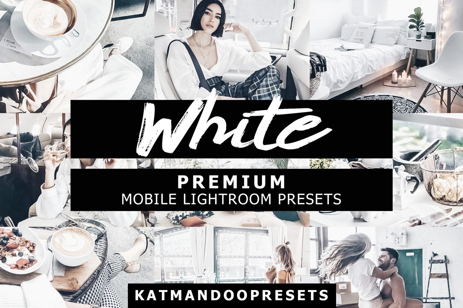 BEST SELLER ⭐️ 7 Mobile & Desktop Lightroom Presets WHITE Instagram Filter - white presets lightroom crella 2 -