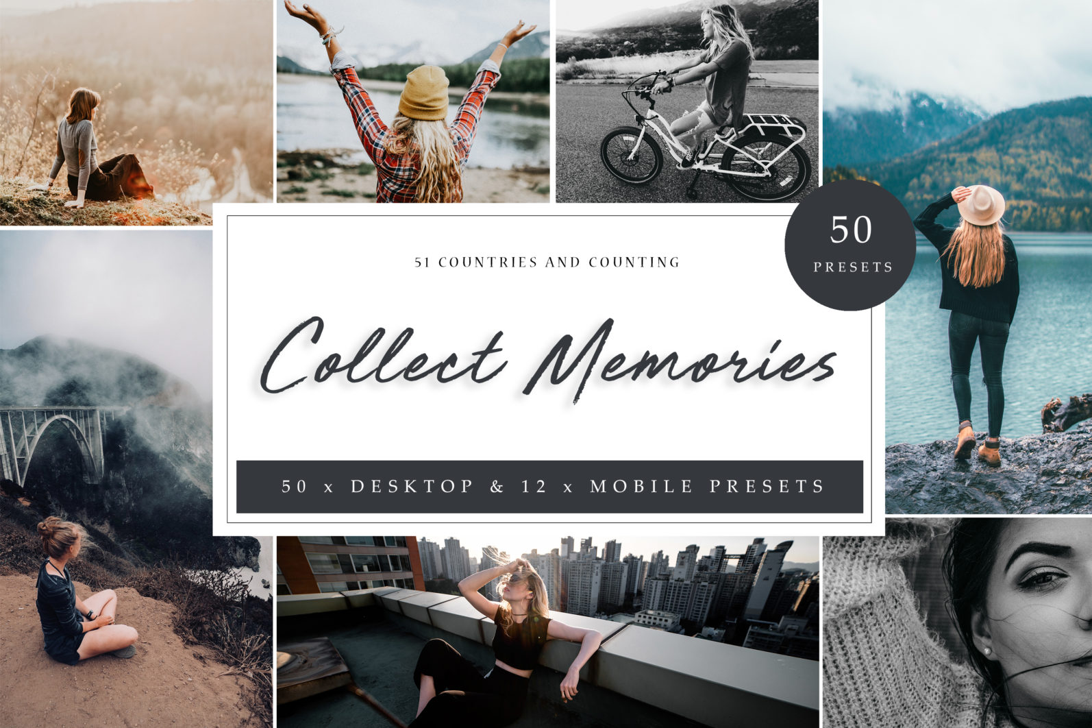 50 x TRAVEL BLOGGER PRESETS // Collect Memories // THE ONLY PRESETS YOU WILL EVER NEED - Collect Memories LR copy scaled -