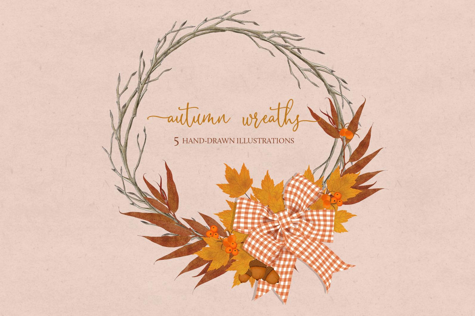 Autumn Wreaths - autumn wreaths title -