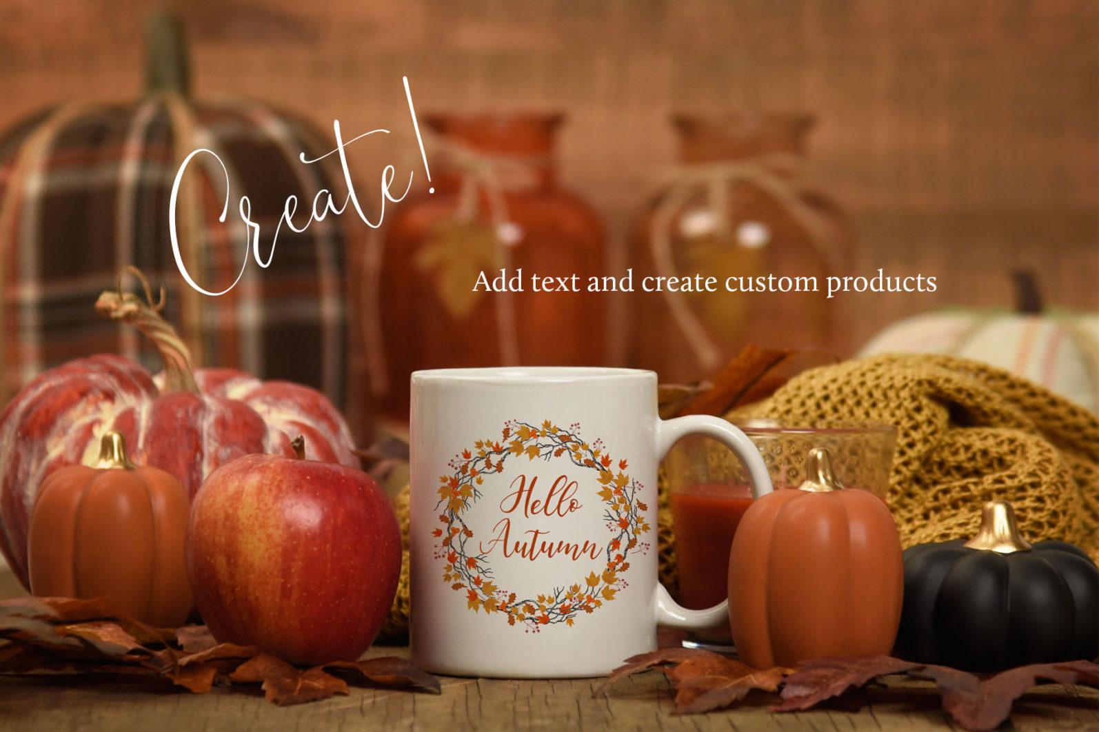 Autumn Wreaths - autumn mug -