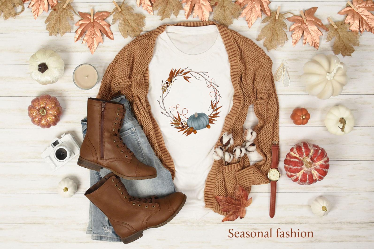Autumn Wreaths - autumn wreath tshirt -