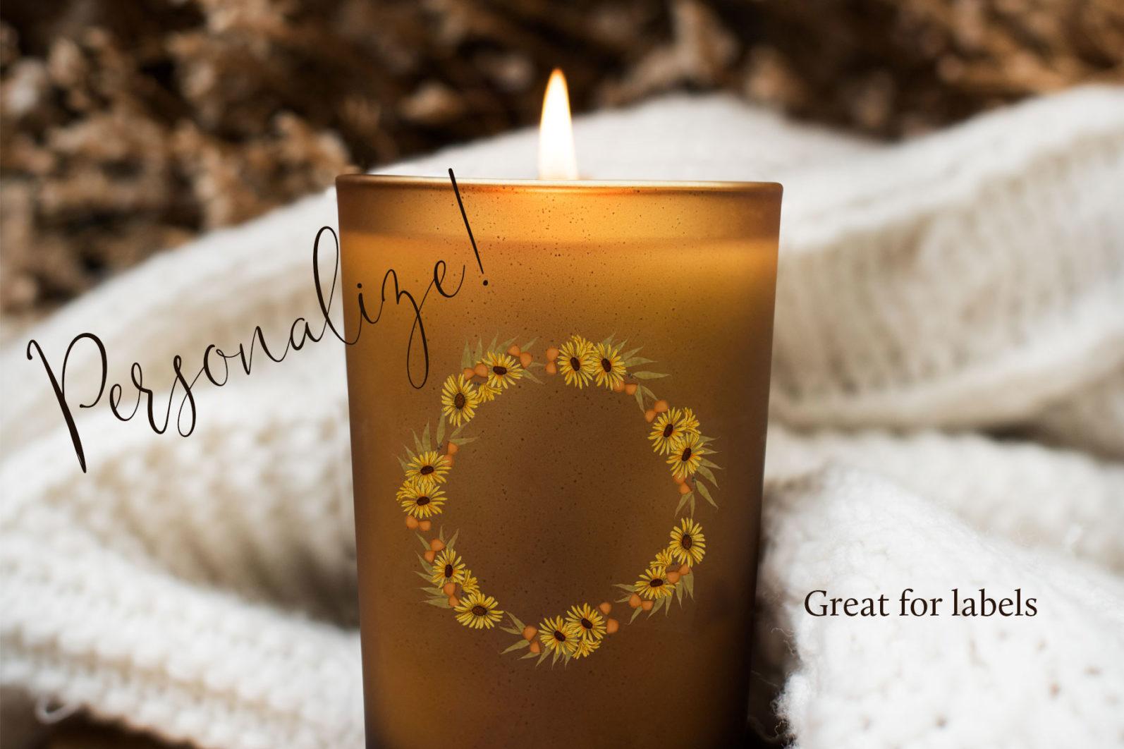 Autumn Wreaths - autumn candle -