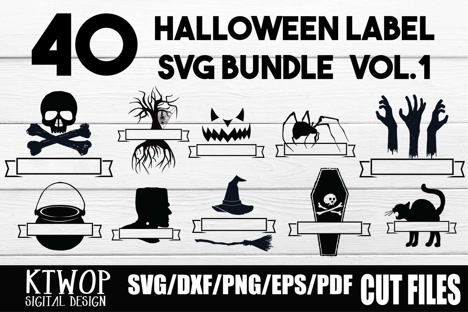 40 Halloween Badge Bundle Crella