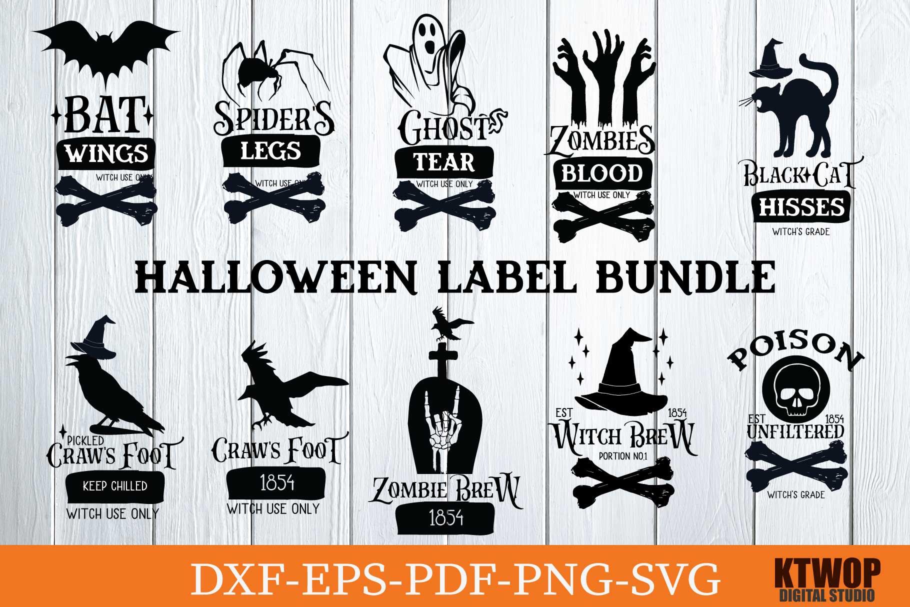 Halloween Label Bundle Crella