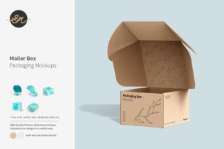 Crella Subscription - Mailer Box Mockup bundle 1 -