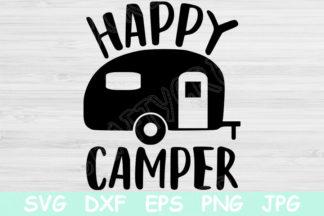 Free SVG Files - happy camper 2 2 -