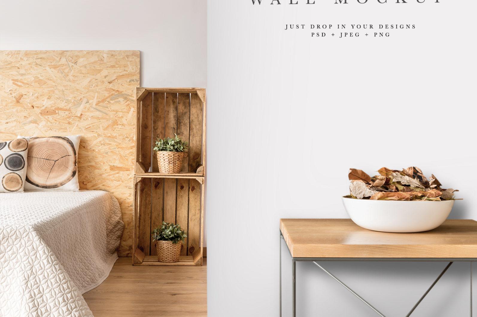 Wall Mockup #33, Wallpaper mockup, Interior mockup, Living Room interior mockup - Wall 33 PREVIEW 1 -