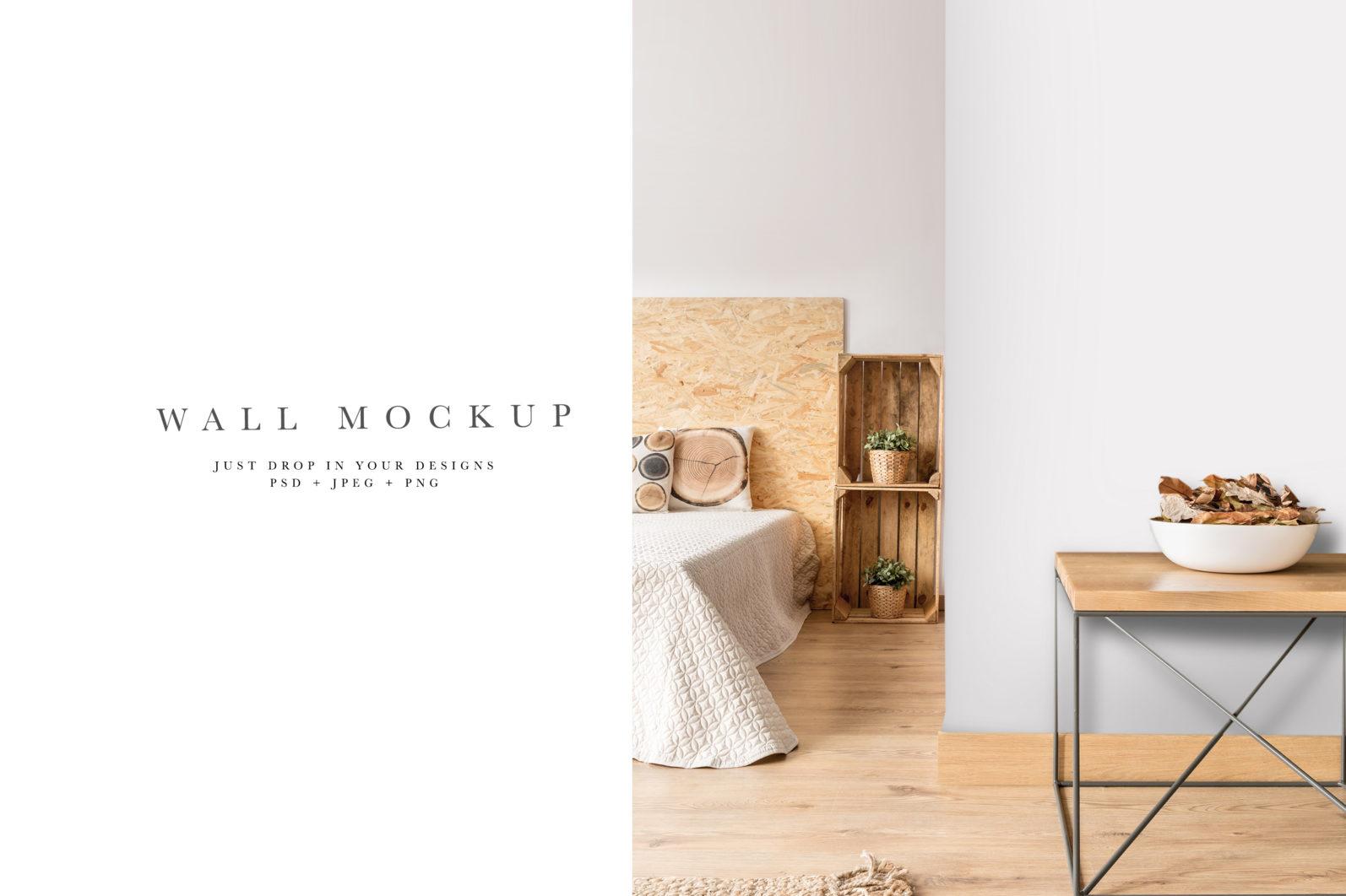 Wall Mockup #33, Wallpaper mockup, Interior mockup, Living Room interior mockup - Wall 33 PREVIEW 4 scaled -