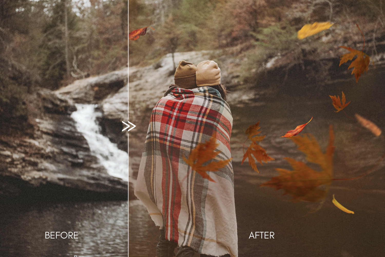 70 Natural Falling Autumn Leaves Photoshop Overlays - autumn falling leaves photoshop photography overlays 5 -