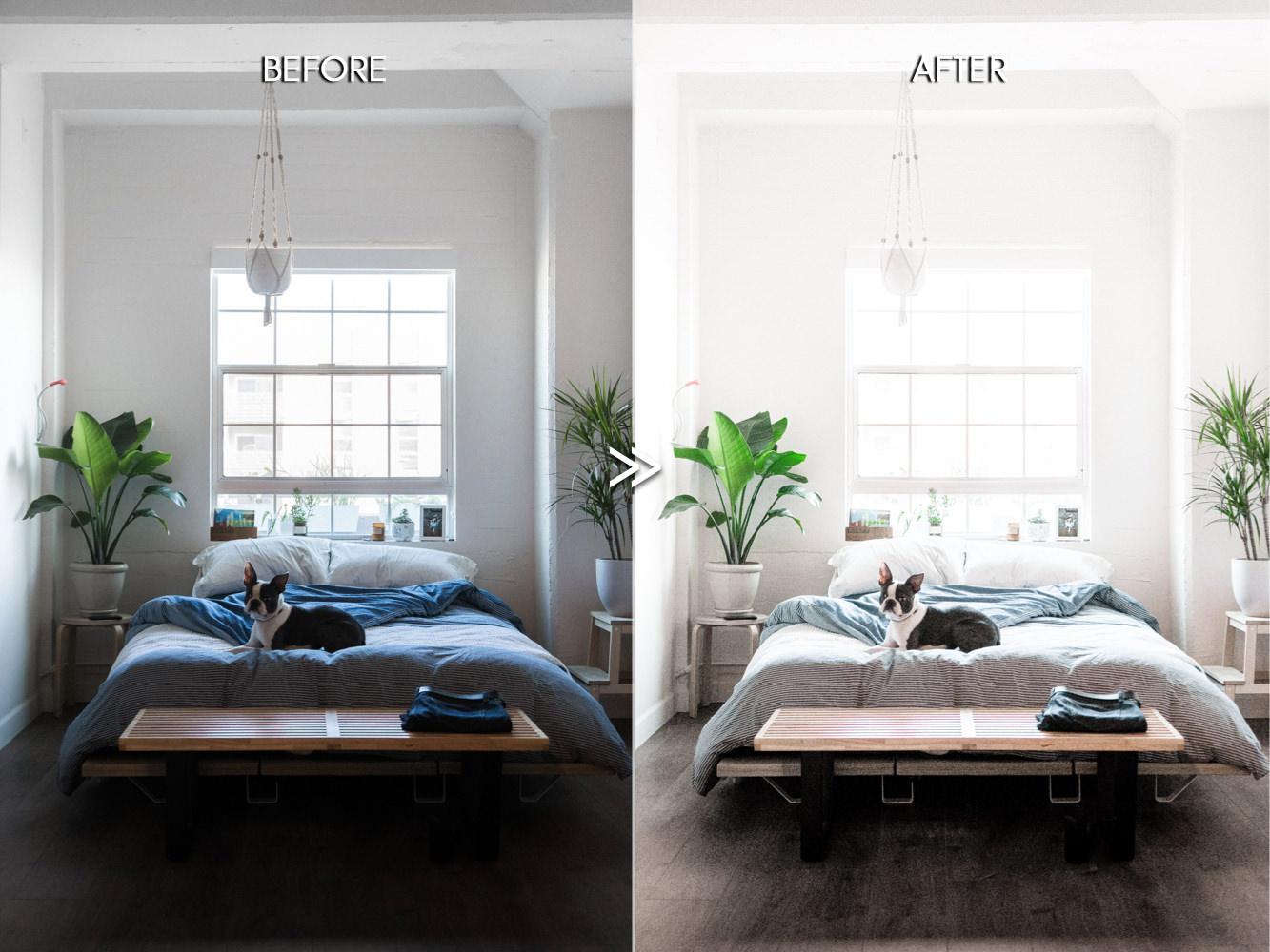THE LIGHT & AIRY BUNDLE - Natural Clean Bright Lightroom Presets for Desktop + Mobile - bright white interior home indoor real estate lightroom presets 4 -